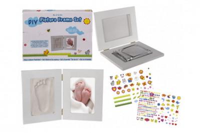 Afstøbningssæt med ramme til babyhånd eller fod
