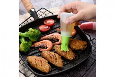 Silikoneflaske med grillbørste
