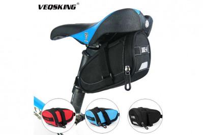 Cykelsadel-taske til cykelsadel - i sort