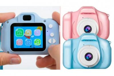 Digital kamera til børn - vælg mellem blå eller pink