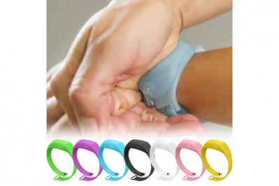 Håndspritarmbånd- bakteriefri hele tiden, over alt