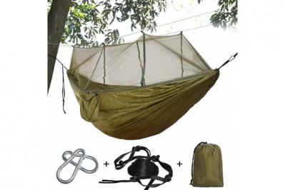 Hængekøje/friluftskøje med myggenet + mulighed for køb af tarp/bivuak