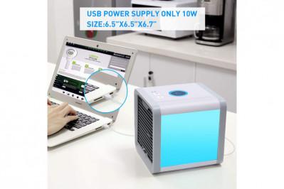 Mini Air Cooler, der køler luften ved hjælp af vanddamp