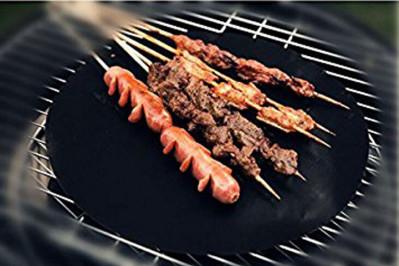 Runde grill måtter i teflon - 2 eller 4 stk.