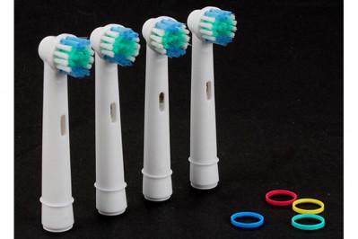 8 stk. Tandbørstehoveder til el-tandbørstning