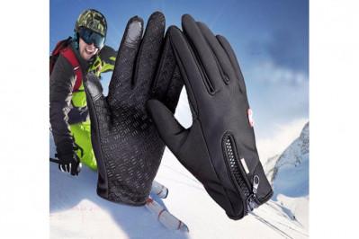 Vind- og vandtætte handsker med touchfunktion og antiskred