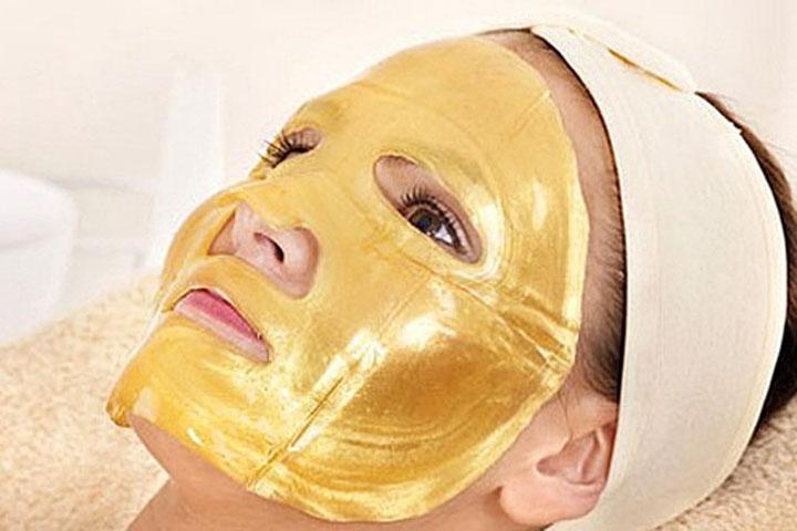 Image of   5 stk fugtighedsgivende guld-ansigtsmasker