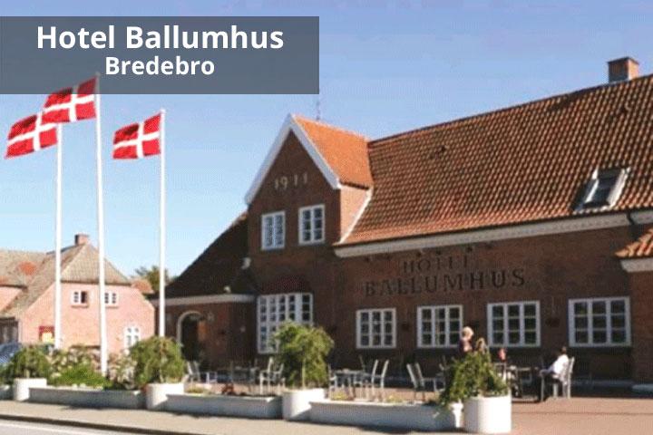 Image of   Ophold for 2 inkl. 4 retters menu og morgenbord på Hotel Ballumhus