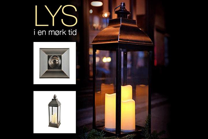 Image of   Lanterne med 3 LED lys i 3 forskellige størrelser