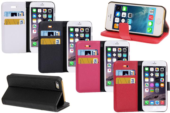 Image of   Flip-cover i konstgjort skinn skyddar din iPhone!