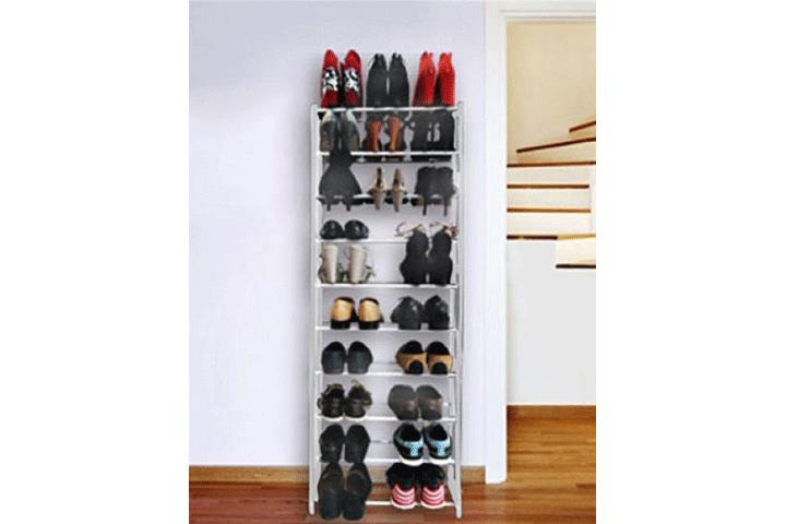Image of   Praktisk skohylde med plads til 30 par sko