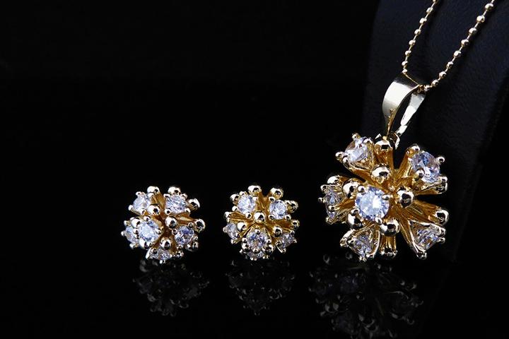 Image of   Forkæl dig selv med dette smukke smykkesæt belagt med 14 karat guld