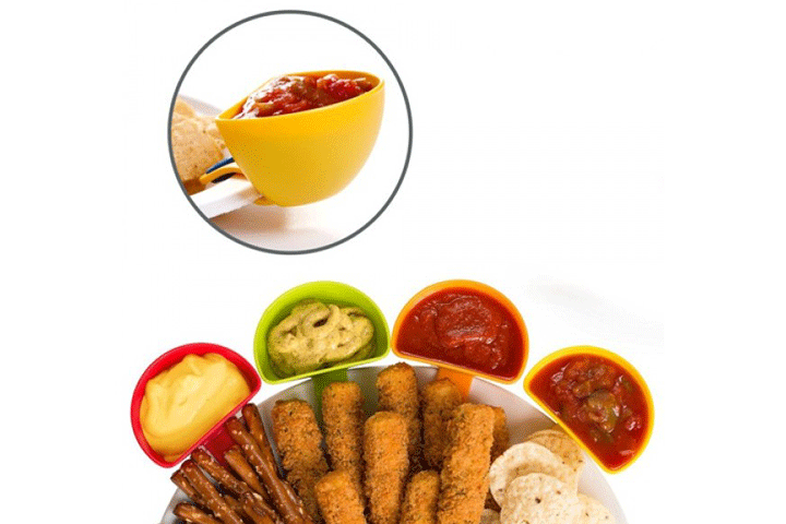 Image of   Farverige holdere til dine dips, dressinger og sovser