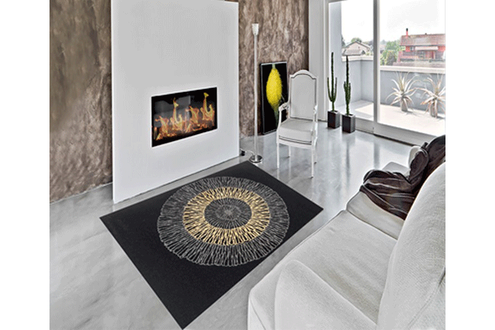 Image of   Giv dit hjem et pift med et blødt tæppe med dekorativt og moderne udtryk